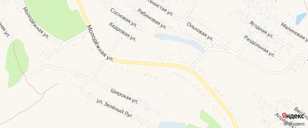 Молодежная улица на карте Заринска с номерами домов