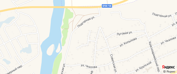 Черепановский переулок на карте Заринска с номерами домов