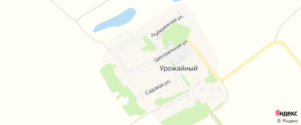 Центральная улица на карте Урожайного поселка с номерами домов