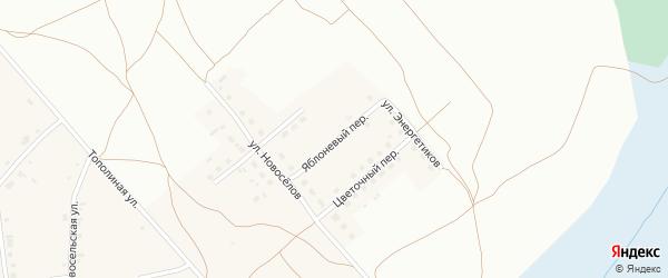 Яблоневый переулок на карте Фоминского села с номерами домов