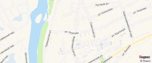 Федосеевская улица на карте Заринска с номерами домов