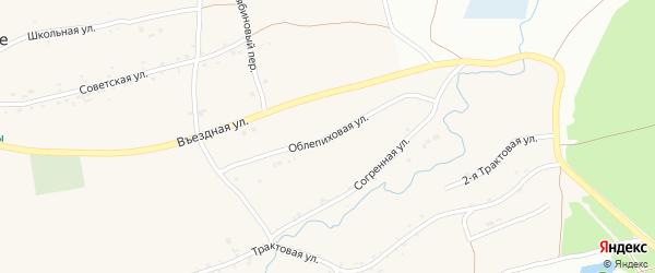 Облепиховая улица на карте Фоминского села с номерами домов