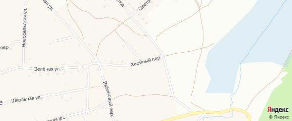 Хвойный переулок на карте Фоминского села с номерами домов
