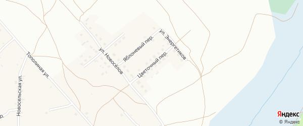 Цветочный переулок на карте Фоминского села с номерами домов