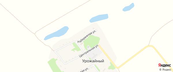 Набережная улица на карте Урожайного поселка с номерами домов