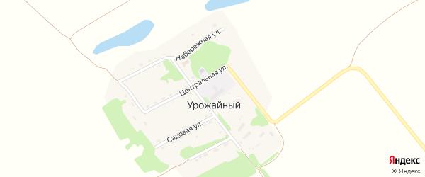 Садовая улица на карте Урожайного поселка с номерами домов