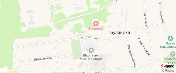 Улица Елютина на карте села Буланихи с номерами домов