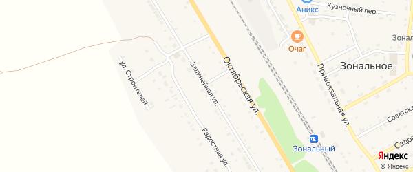Залинейная улица на карте Зонального села с номерами домов