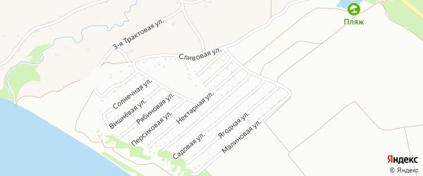 Нектарная улица на карте садового некоммерческого товарищества Обские зори с номерами домов