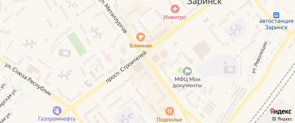 Улица Металлургов на карте Заринска с номерами домов