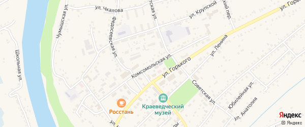 Комсомольская улица на карте Заринска с номерами домов