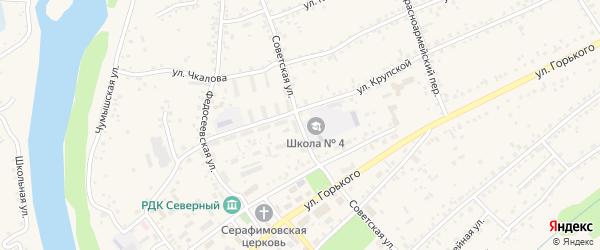 Советская улица на карте Заринска с номерами домов