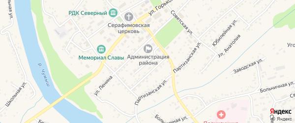 Коммунальная улица на карте Заринска с номерами домов