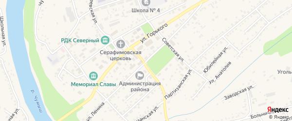 Улица Ленина на карте Заринска с номерами домов