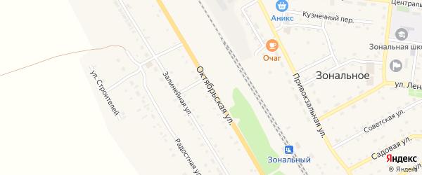 Октябрьская улица на карте Зонального села с номерами домов