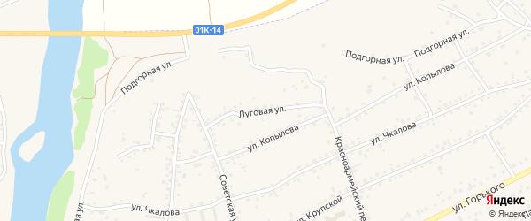Луговая улица на карте Заринска с номерами домов