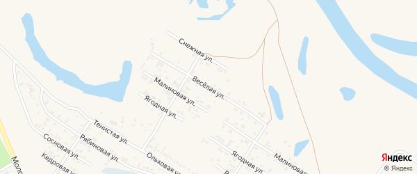 Веселая улица на карте Заринска с номерами домов