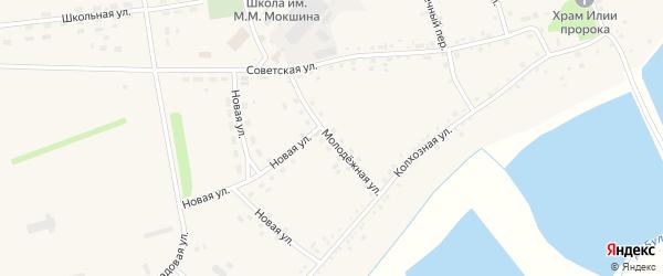 Молодежная улица на карте села Буланихи с номерами домов