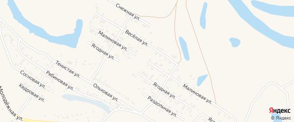 Малиновая улица на карте Заринска с номерами домов