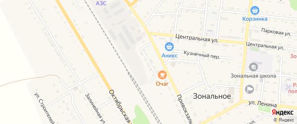 Линейная улица на карте Зонального села с номерами домов