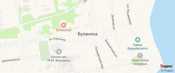 Новая улица на карте села Буланихи с номерами домов
