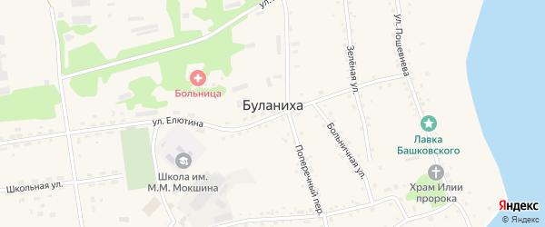 Набережная улица на карте села Буланихи с номерами домов