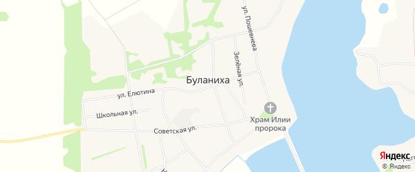 Карта села Буланихи в Алтайском крае с улицами и номерами домов