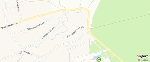 2-я Трактовая улица на карте Фоминского села с номерами домов