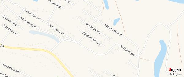 Раздольная улица на карте Заринска с номерами домов