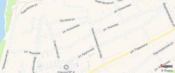 Улица Чкалова на карте Заринска с номерами домов