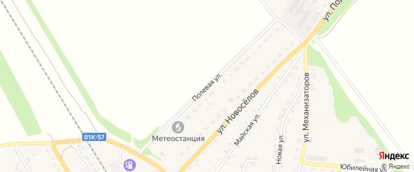Полевая улица на карте Зонального села с номерами домов