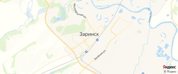Карта Заринска с районами, улицами и номерами домов
