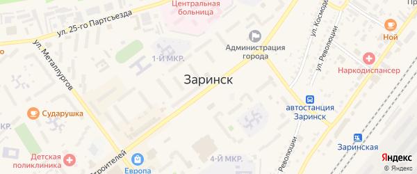 1-я Заводская улица на карте Заринска с номерами домов