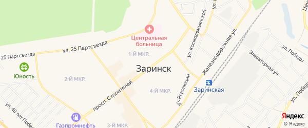 СТ Монтажник на карте Заринска с номерами домов