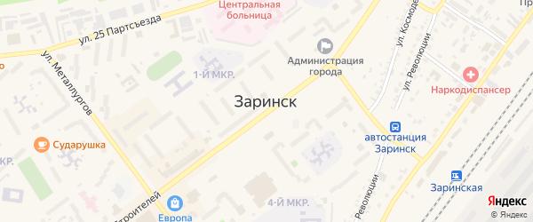Заречная улица на карте Заринска с номерами домов