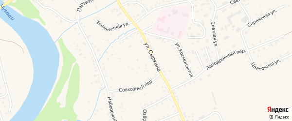 Улица Сыркина на карте Заринска с номерами домов