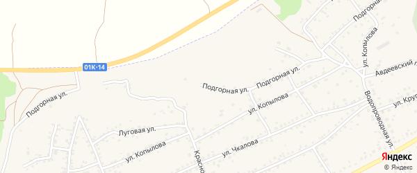 Подгорная улица на карте Заринска с номерами домов