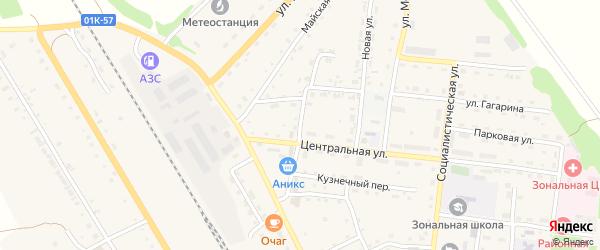 Торговая улица на карте Зонального села с номерами домов