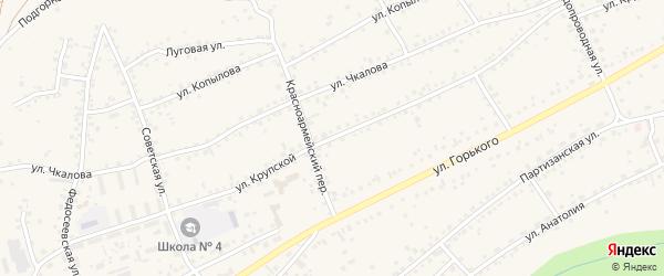Улица Крупской на карте Заринска с номерами домов