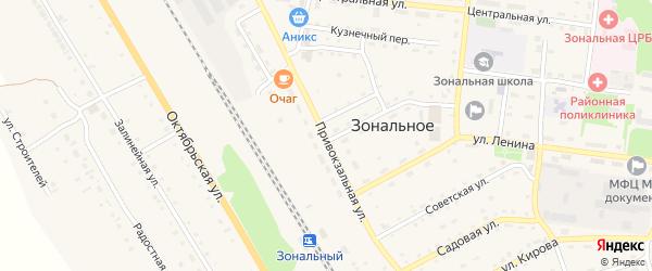 Привокзальная улица на карте Зонального села с номерами домов