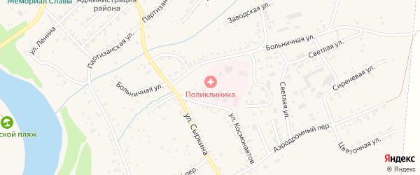 Садовая улица на карте Заринска с номерами домов