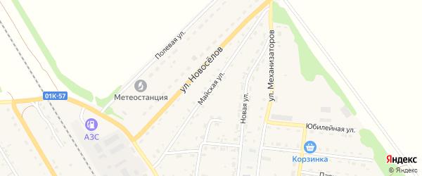 Майская улица на карте Зонального села с номерами домов