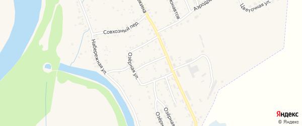 Проточный переулок на карте Заринска с номерами домов