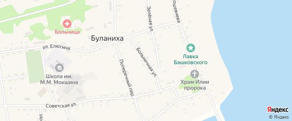 Больничная улица на карте села Буланихи с номерами домов