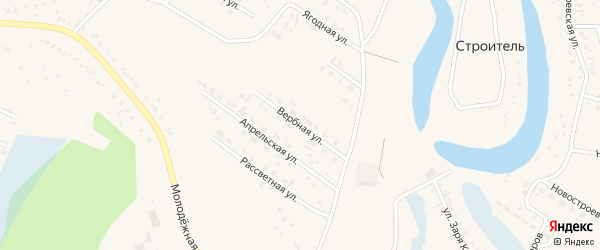 Вербная улица на карте Заринска с номерами домов