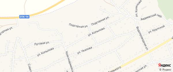 Улица Копылова на карте Заринска с номерами домов