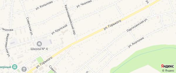 Улица Горького на карте Заринска с номерами домов