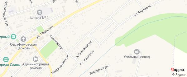 Юбилейная улица на карте Заринска с номерами домов