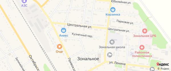 Кузнечный переулок на карте Зонального села с номерами домов