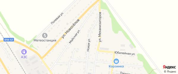 Новая улица на карте Зонального села с номерами домов